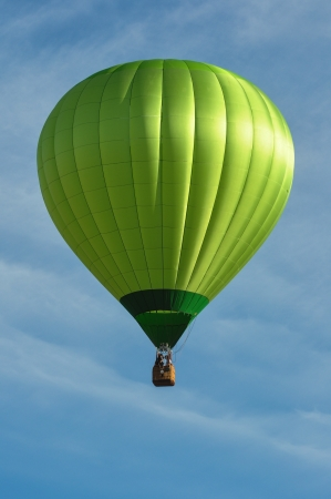 Photo for Green Hot Air Balloon - Royalty Free Image