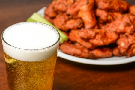 Photo for Beer and Buffalo Wings - Royalty Free Image