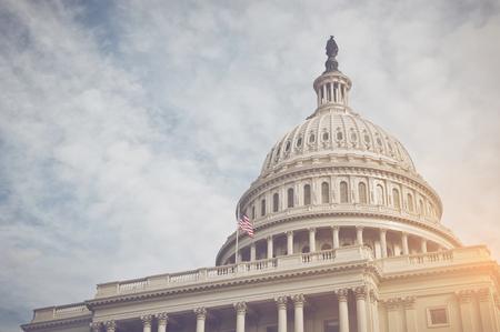 Photo pour Capitol Hill Building in Washington DC with Vintage Filter - image libre de droit