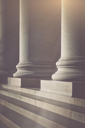 Photo for Pillars and Stairs to a Courthouse with Vintage Style Filter - Royalty Free Image