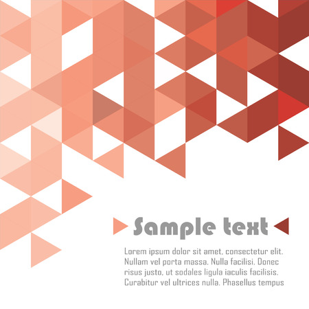 Illustration pour Red triangle vector abstract background - image libre de droit