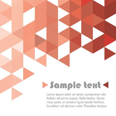 Ilustración de Red triangle vector abstract background - Imagen libre de derechos