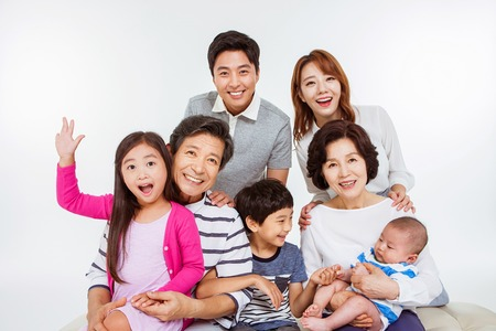 Photo for Portrait of Happy Asian Family - Royalty Free Image
