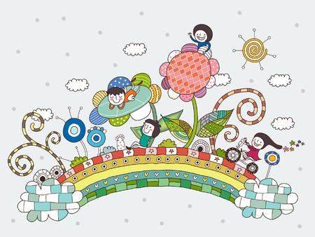 Illustration pour Children playing - image libre de droit