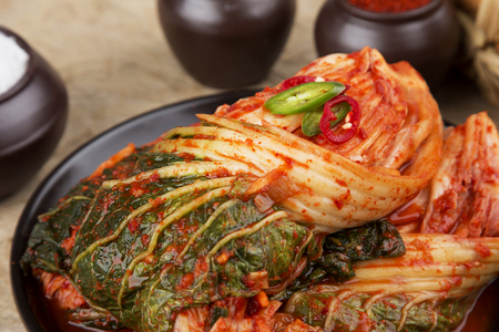 Photo for kimchi, which is a globally recognized healthful food - Royalty Free Image