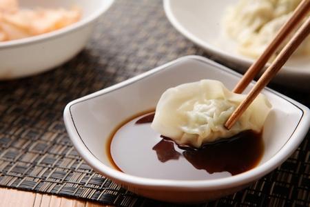 Photo pour Boiled dumplings - image libre de droit