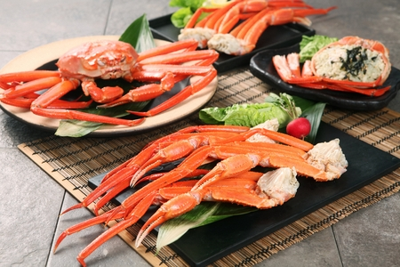 Photo for king crab and king crab legs on plate - Royalty Free Image
