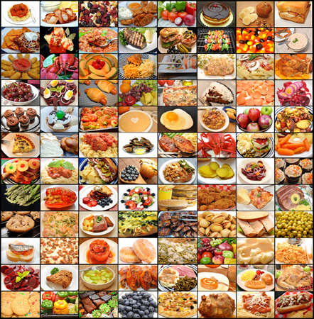 Large Food Collage