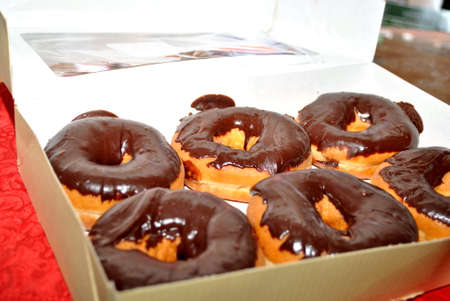6 Pack of Donuts Chocolate Glazed Doughnuts