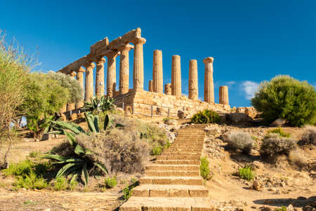Photo for The temple of Juno, in the Valley of the Temples of Agrigento - Royalty Free Image