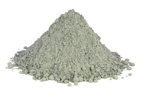 Photo for Grady cement powder over white background - Royalty Free Image