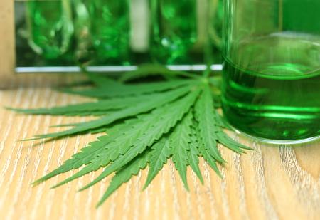 Foto de Cannabis leaves in laboratory for research - Imagen libre de derechos
