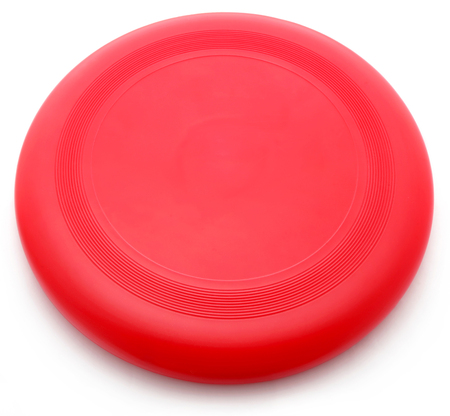 Photo for Red Frisbee isolated over white background - Royalty Free Image