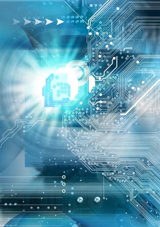Photo pour High technology background  - image libre de droit