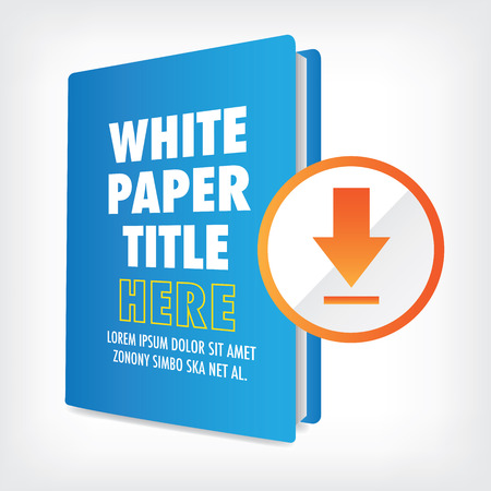 Illustration pour Download the Whitepaper or Ebook Graphics with Replaceable Title, Cover, and CTAs with Call to Action Buttons.  Whitepapers and E-books have a Similar Purpose in the Marketing World. - image libre de droit