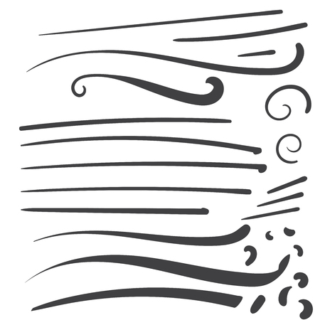 Illustration pour Hand Drawn Black squiggle swoosh text font tail for baseball tshirt design w calligraphy swirl - image libre de droit
