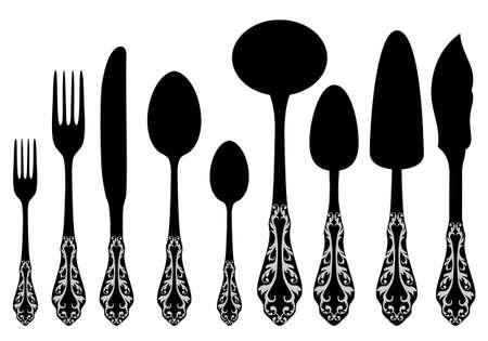 antique cutlery service