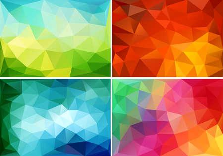 Ilustración de abstract colorful low poly backgrounds, set of vector design elements - Imagen libre de derechos