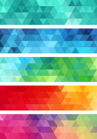 Illustration pour abstract geometric banner, set of vector design elements - image libre de droit