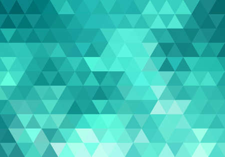 Illustration for abstract teal geometric vector background, triangle pattern - Royalty Free Image