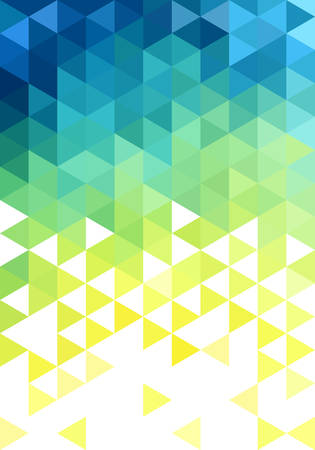 Illustration pour abstract blue green low poly vector background, triangle pattern - image libre de droit