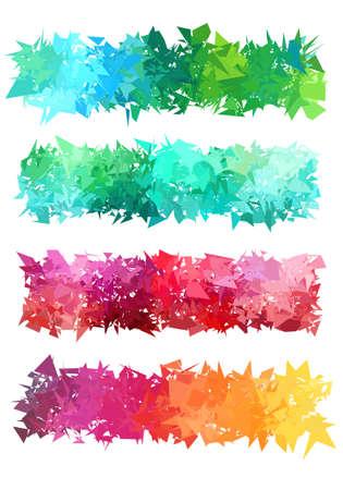 Ilustración de Abstract colorful geometric banner set illustration. - Imagen libre de derechos