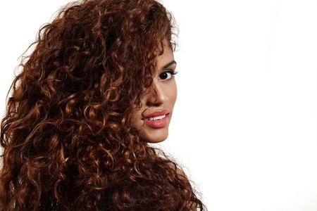 Photo pour curly hair of pretty woman - image libre de droit