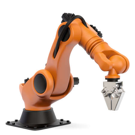 Photo for Very high resolution 3d rendering of an industrial robot  - Royalty Free Image