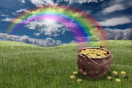 Photo for Very high resolution rendering of a pot of gold - Royalty Free Image