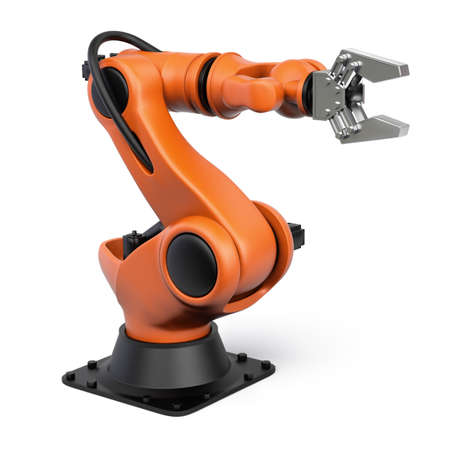 Photo pour Very high resolution 3d rendering of an industrial robot. - image libre de droit