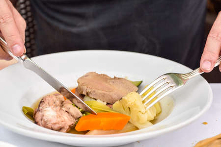 Photo for Boiled Cow's Head,Tête de veau -French food - Royalty Free Image