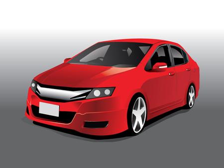 Illustration pour Vector sports red car - image libre de droit