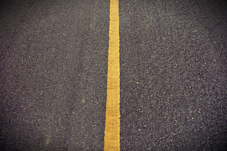 Photo for New asphalt texture with yellow line on road - Royalty Free Image