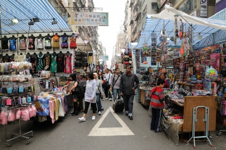 Ladies' Street, is one of the most well-known street markets in Hong Kong