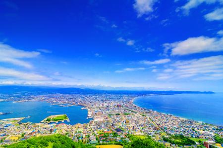 Photo pour view of Hakodateyama in Hokkaido Japan - image libre de droit