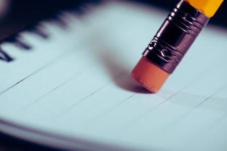 Photo pour Eraser of pencil - image libre de droit