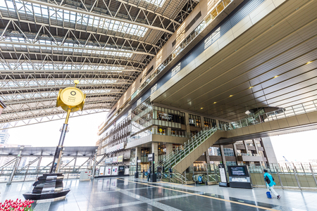 Foto de Osaka, Japan -  22 February 2018 - JR Osaka Station in Osaka of Japan.This is a station of West Japan Railway Company. - Imagen libre de derechos