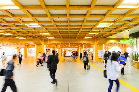Foto de Nara, Japan - April 19, 2018: Nara Station is a railway station located in Nara, Japan. Operated by West Japan Railway Company. - Imagen libre de derechos