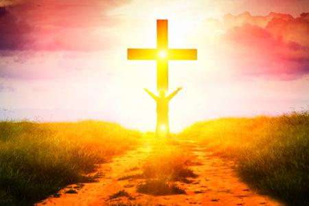 Foto de The concept of a believer in Christ is a victory. - Imagen libre de derechos