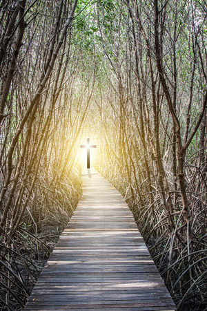 Foto de Concept of the Way to the Cross of Jesus Christ - Imagen libre de derechos