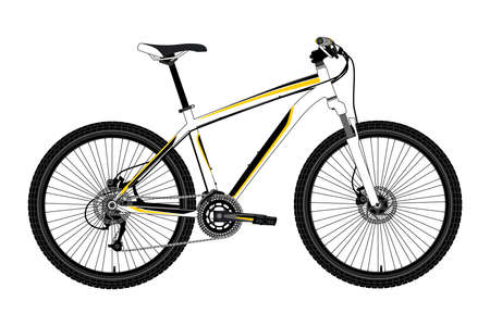 Illustrazione per Sports bike isolated on white background.Vector illustration.Photorealism - Immagini Royalty Free