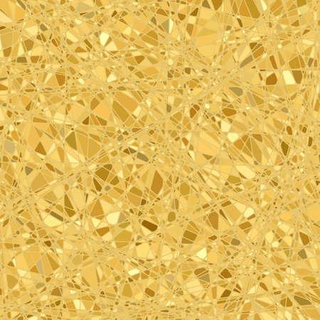 Illustration for Gold mosaic background   - Royalty Free Image