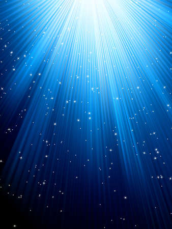 Stars on blue striped background  Festive pattern great for winter or christmas themes  EPS 8 vector file included