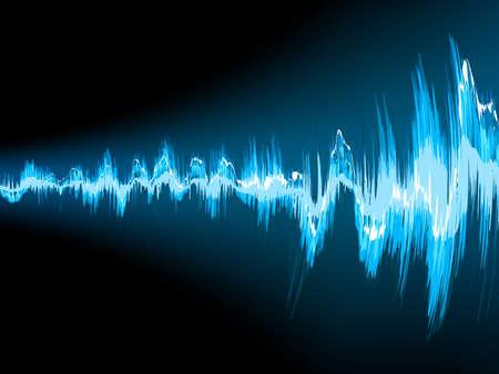 Ilustración de Sound wave abstract background.  - Imagen libre de derechos