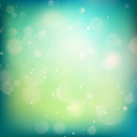 Ilustración de Blue and green defocused lights background. abstract bokeh lights. - Imagen libre de derechos
