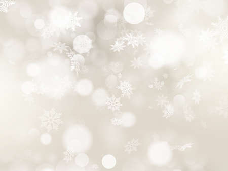 Ilustración de Christmas background with white snowflakes and place for your text.  - Imagen libre de derechos