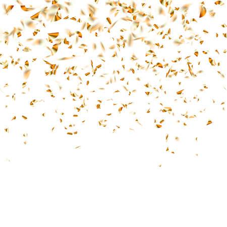 Illustration pour Festive glittering gold confetti falling. vector file included - image libre de droit
