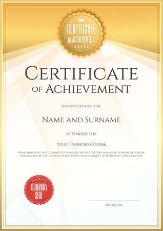 Illustration pour Certificate template in vector for achievement graduation completion - image libre de droit