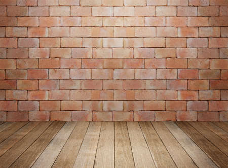 Foto de Wood and brick background interior room - Imagen libre de derechos