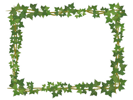 Illustration for square decorative frame of ivy branches - Royalty Free Image